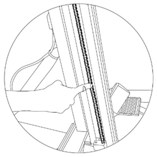 bottom chain tension